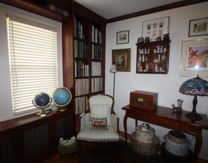 Corner of home library